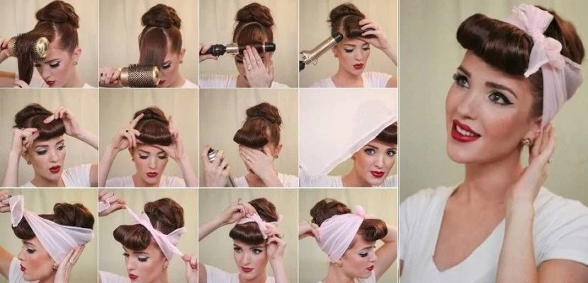 tuto coiffure pin up facile bandana