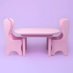 18 Doll Table And Chairs Chair Covers India 15 Furniture Accessories Inch Pink Set