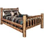 Glacier Country Rustic Pine Spindle Log Bed Best Rustic Furniture