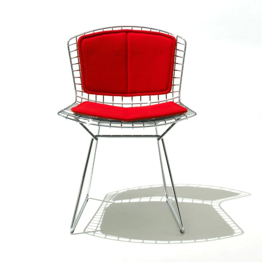 bertoia side chair cover rentals louisville ky knoll with back pad and seat cushion palette from