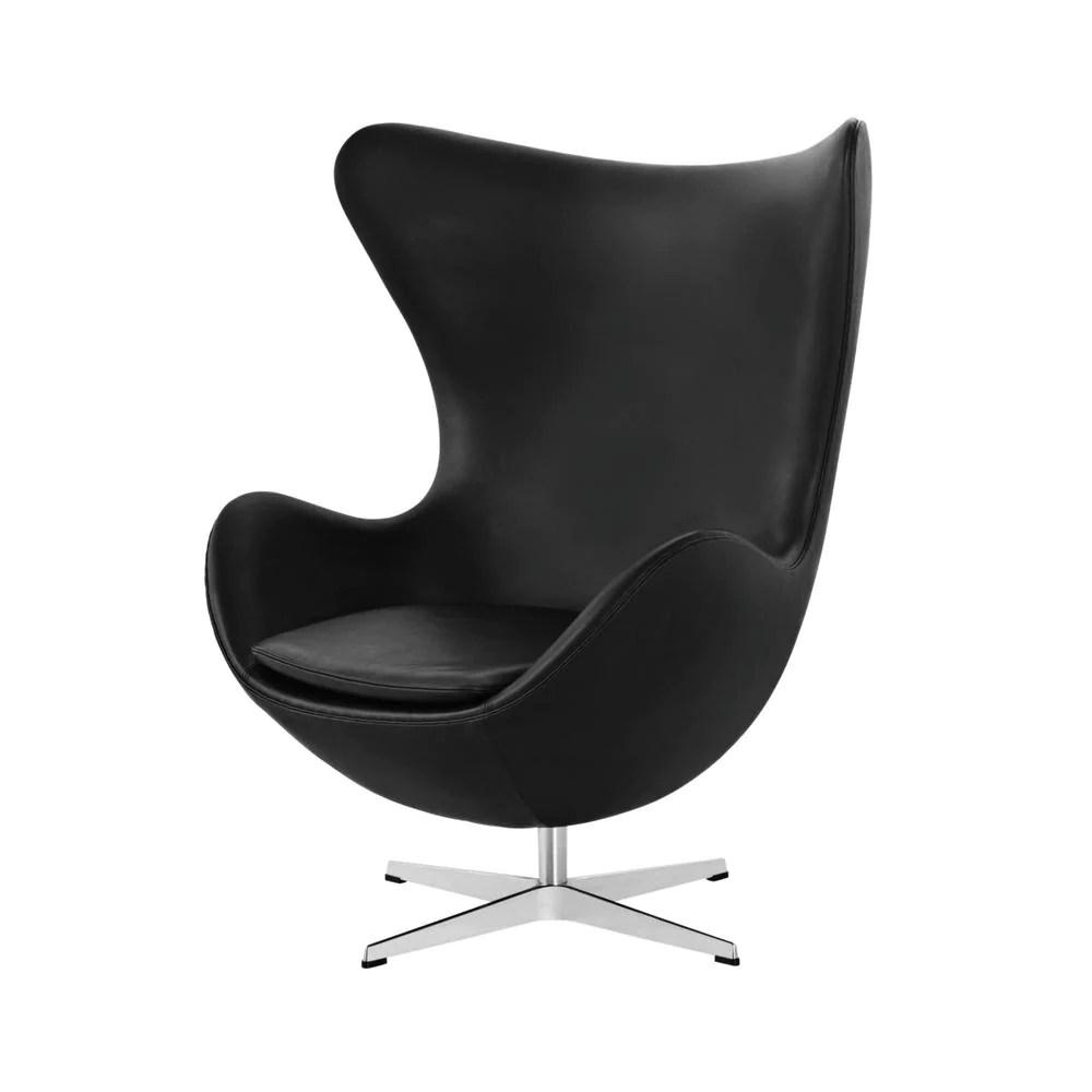 jacobsen egg chair leather office swivel arne fritz hansen palette parlor modern