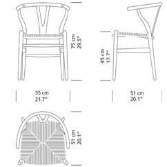 Office Chair Diagram Transport Cvs Hans Wegner | Wishbone Ch24 Carl Hansen & Son Modern Furniture Palette Parlor