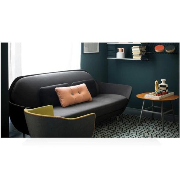 grey material office chair antique upholstered rocking jaime hayon   favn sofa jh3 fritz hansen modern furniture palette & parlor