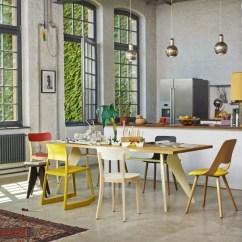 Oak Kitchen Cart 3 Basin Sink Jean Prouve | Em Table Vitra Palette & Parlor Modern ...
