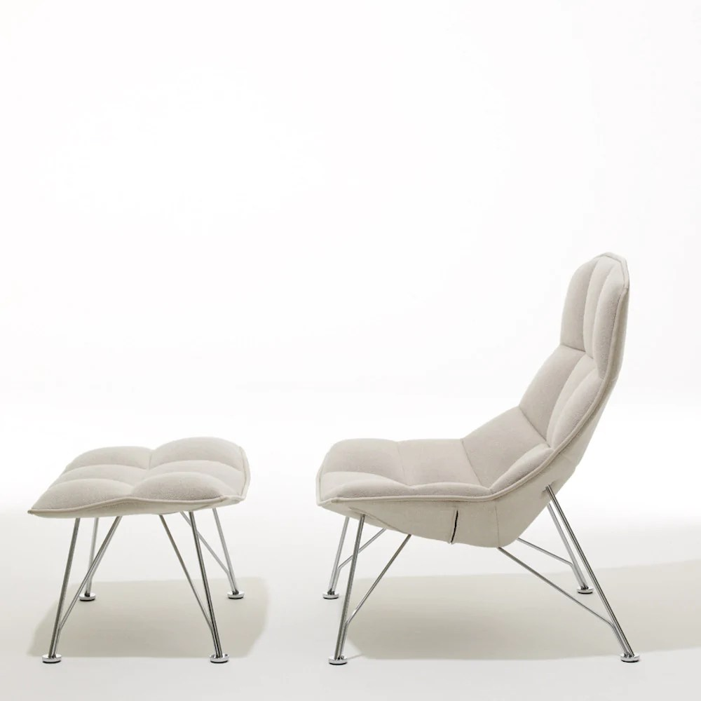 jehs laub lounge chair covers wedding calgary ottoman knoll palette parlor modern design and with circa silver upholstery wire base from
