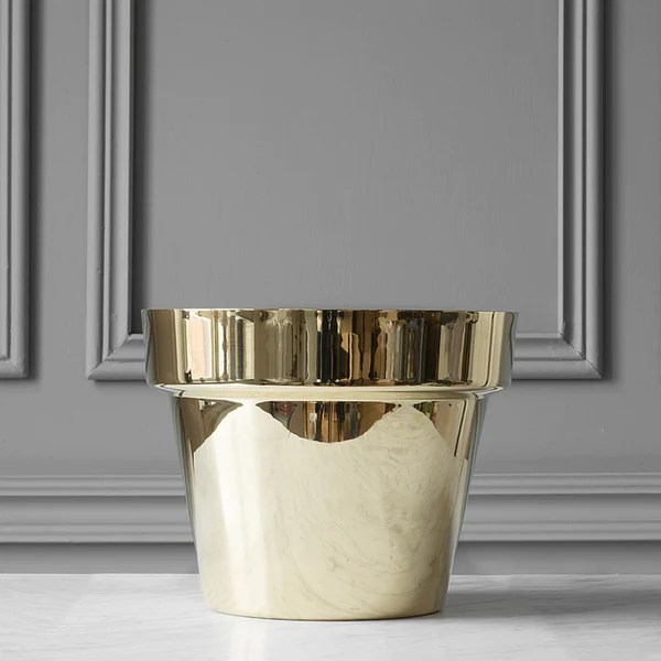 Monica Frster Polished Brass Flower Pots Skultuna