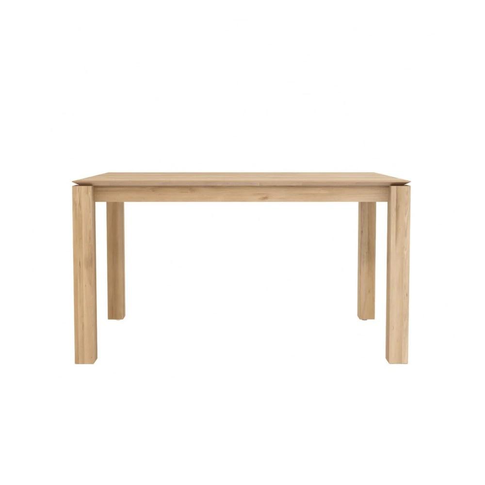Oak Slice Extendable Dining Table Ethnicraft Palette Parlor Modern Design