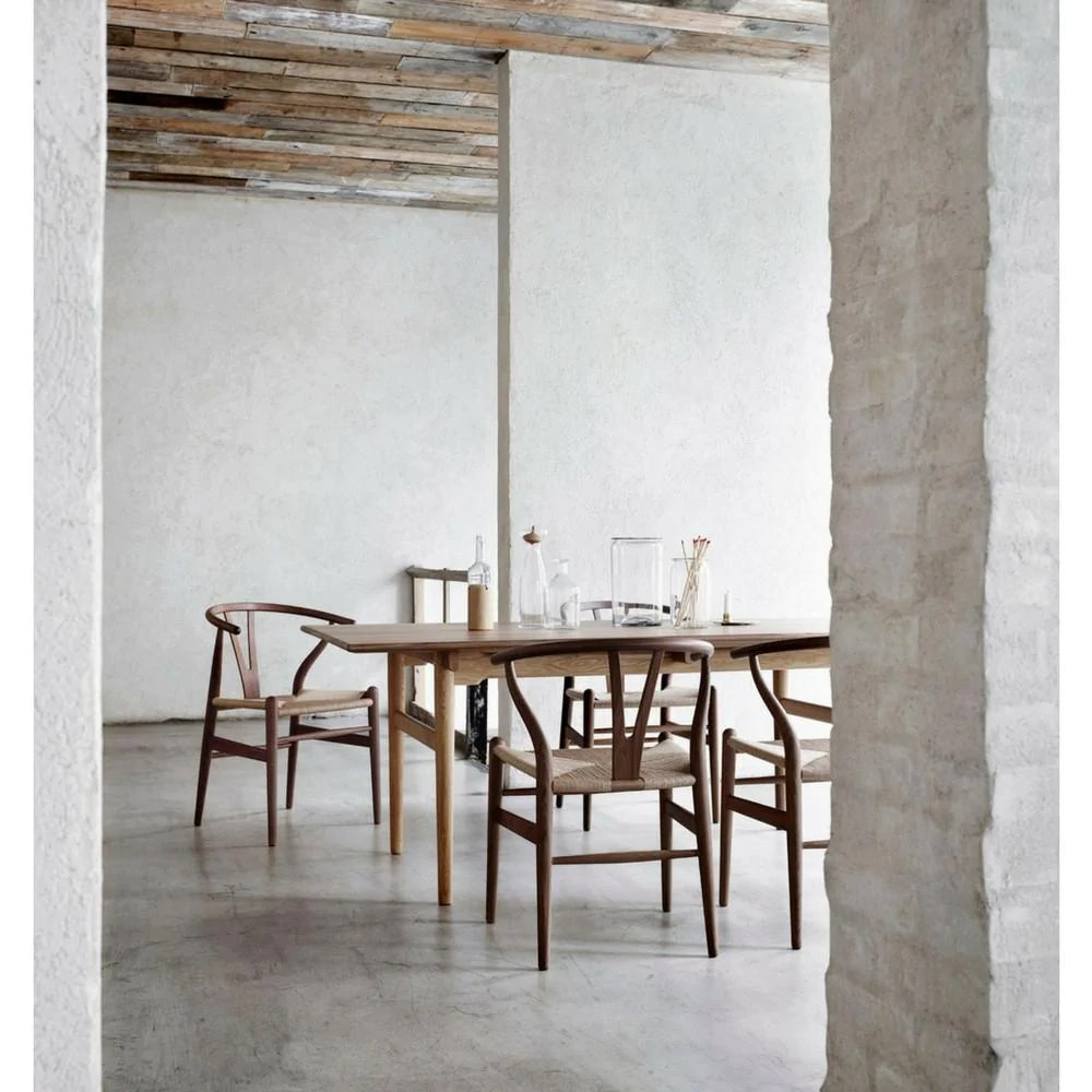 Wishbone Chairs Wegner Wishbone Chair Natural Wood Natural Papercord Carl Hansen