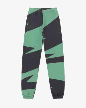 Loose fit zig zag print track pants wasabi