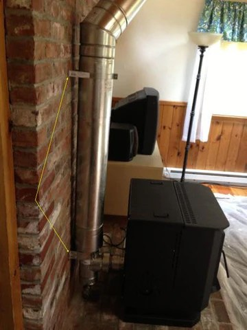 8 Quot Od Metal Chimney Conversion Wood Stove To Pellet 4dt