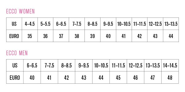 Ecco size chart also  simons shoes rh simonsshoes