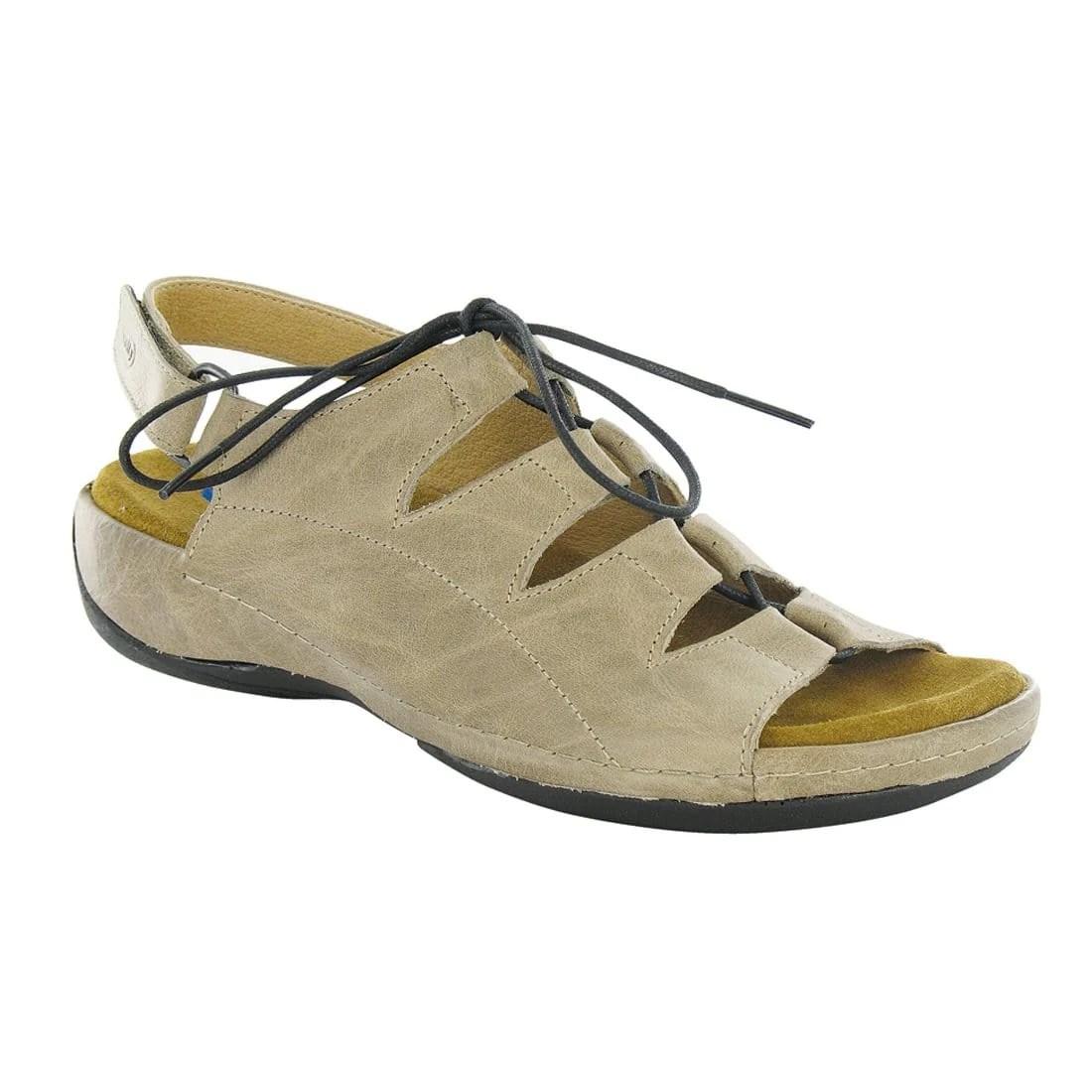 Wolky Kite 0310 Women' Leather Memory Foam Ghillie Sandal Simons Shoes