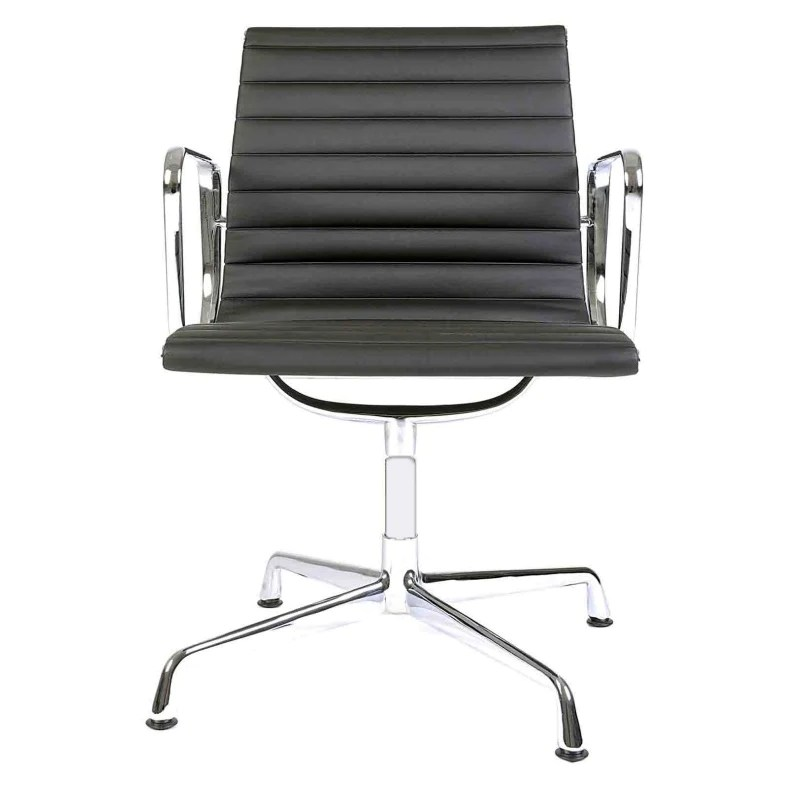 Bürostuhl Charles & Ray Eames EA 108 schwarz   Aluminium ...