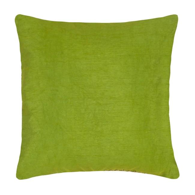 la grandiose parrot green throw pillow cover threadcentric