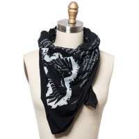 The Raven Literary Scarf | Poetry Scarf | Storiarts