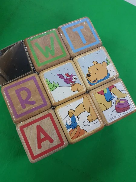 Disney Wooden Alphabet Blocks Puzzle Winnie the Pooh  RightToLearncomsg
