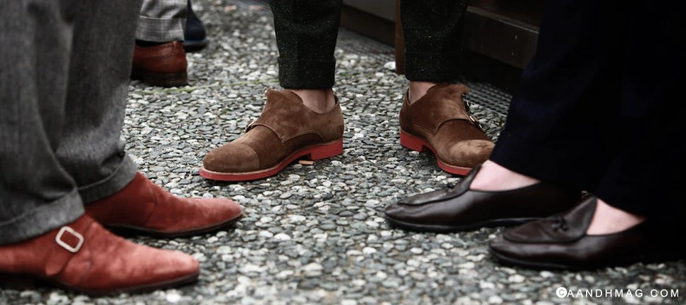 Pitti Uomo 85 Streetstyle Doublemonk Shoes
