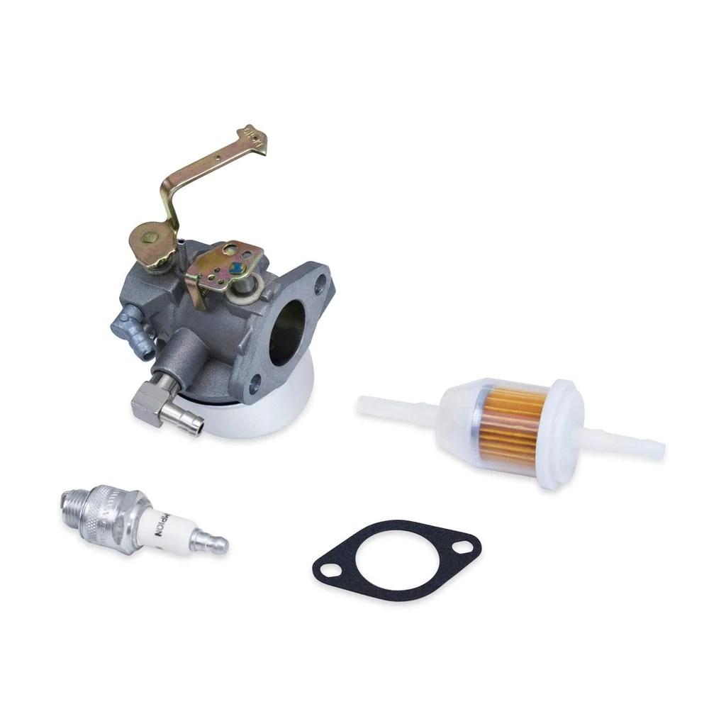 medium resolution of carburetor spark plug fuel filter fits some tecumseh hm90 hm100 640152a 640051