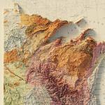 Usa Quadrant Ne 1932 Relief Map Muir Way