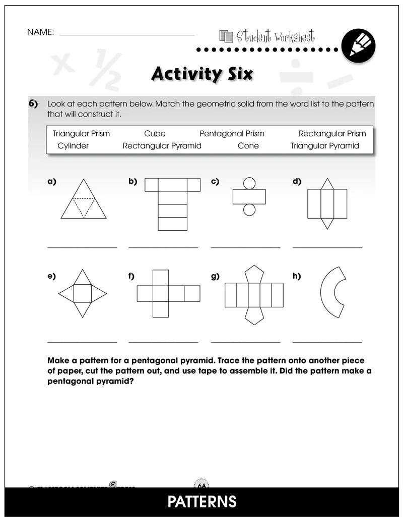 Geometry - Grades 3-5 - Task Sheets – CLASSROOM COMPLETE PRESS [ 1036 x 800 Pixel ]