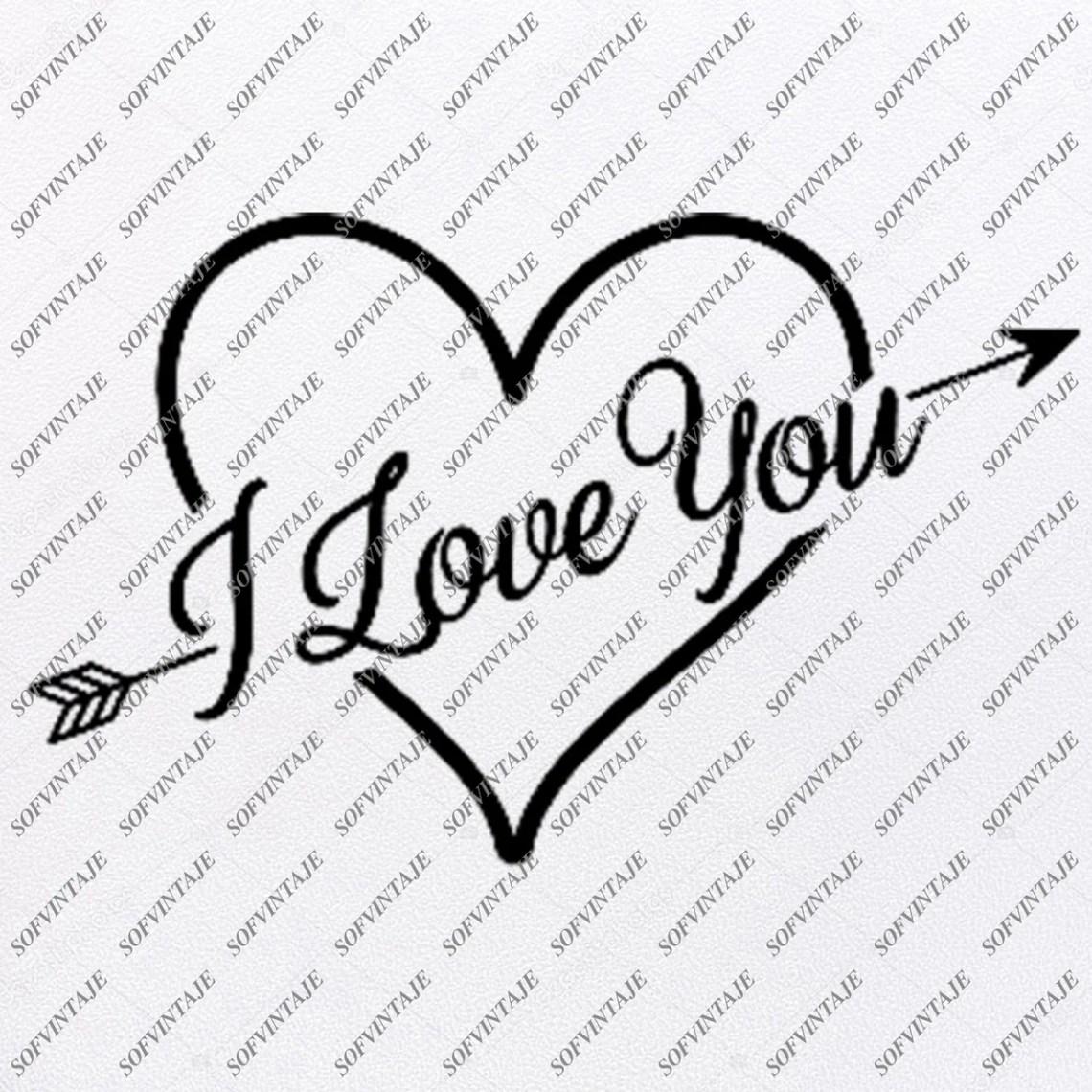 Download Love Heart Svg File - I Love You Svg - Love Heart Svg ...