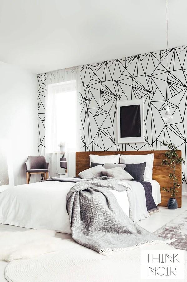 Geometric Wallpaper For Walls Think Noir Wallpaper