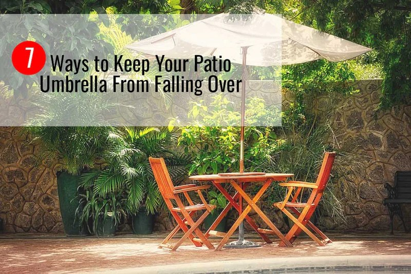 your patio umbrella from falling over