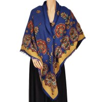 Vintage Gucci Wool Challis Shawl Scarf Floral Pattern 52 ...
