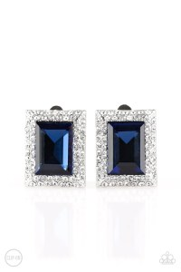 Paparazzi Crowned Couture Clip-On - Blue  Paparazzi Bling ...