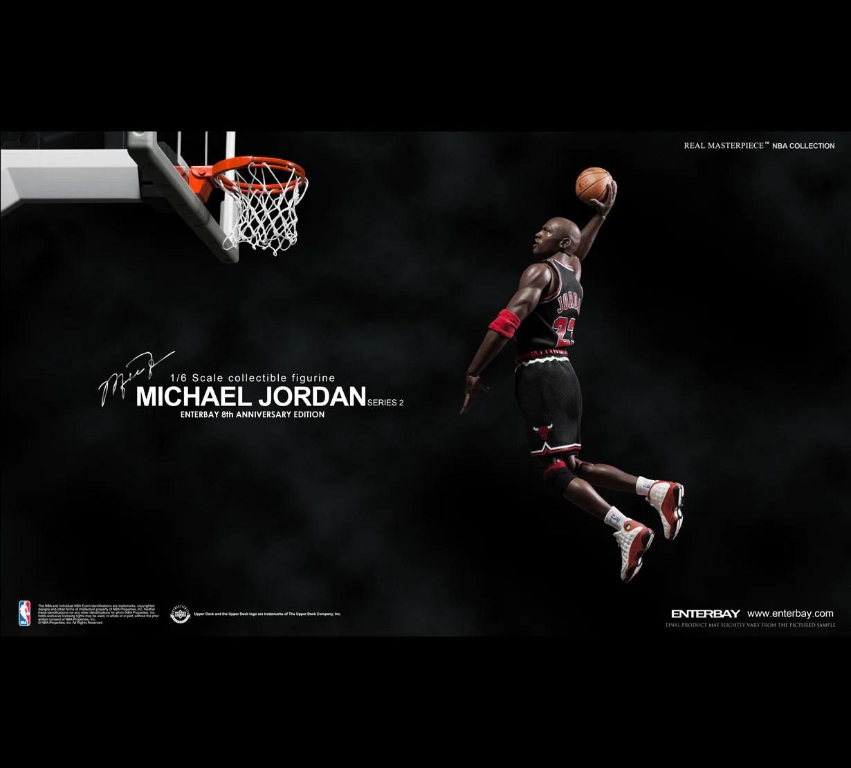 RM 1055 Michael Jordan Series 2 23 Black Jersey