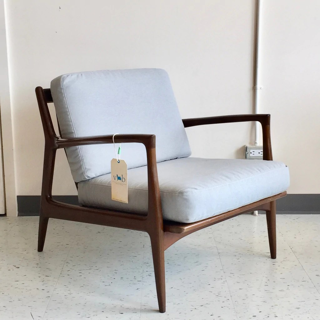 Selig Chair Mid Century Modern Walnut Armchair By Ib Kofod Larsen For Selig