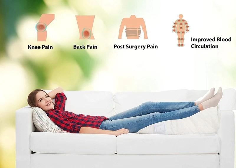 wedge leg pillow upholstery foam rest