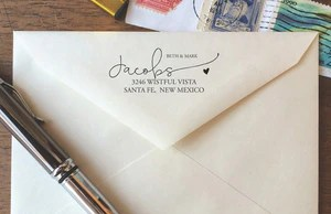 modern calligraphy return address