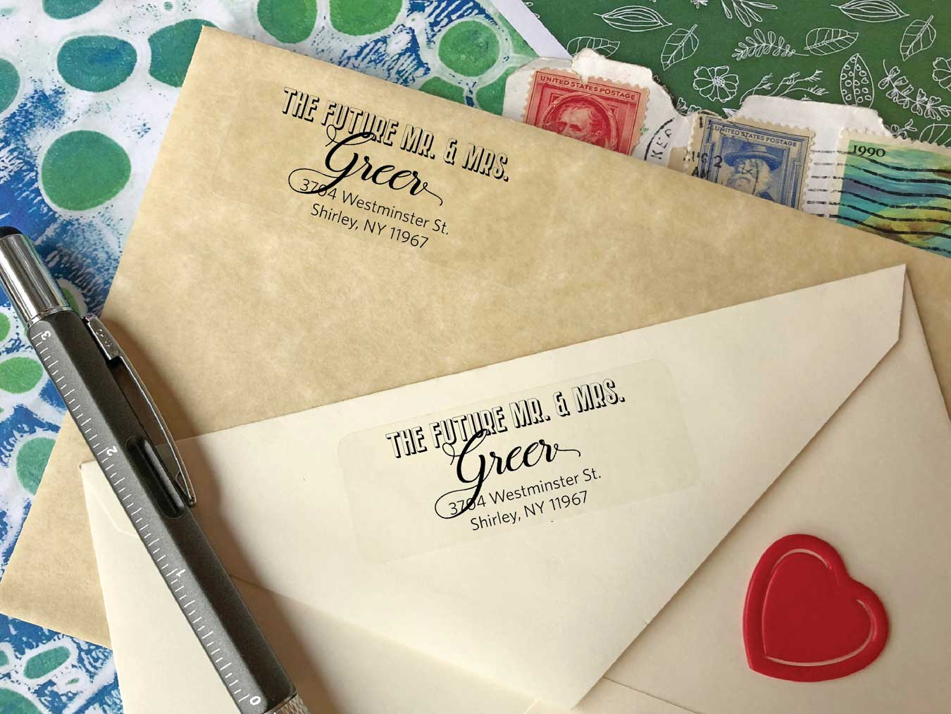 greer calligraphy return address