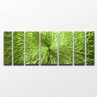 """Cosmic Energy - Lime Green Candy"" 68""x24"" Large Modern ..."