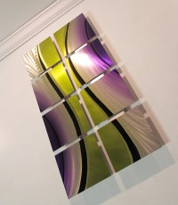"""Flow"" 26""x14"" Modern Abstract Metal Wall Art Sculpture"