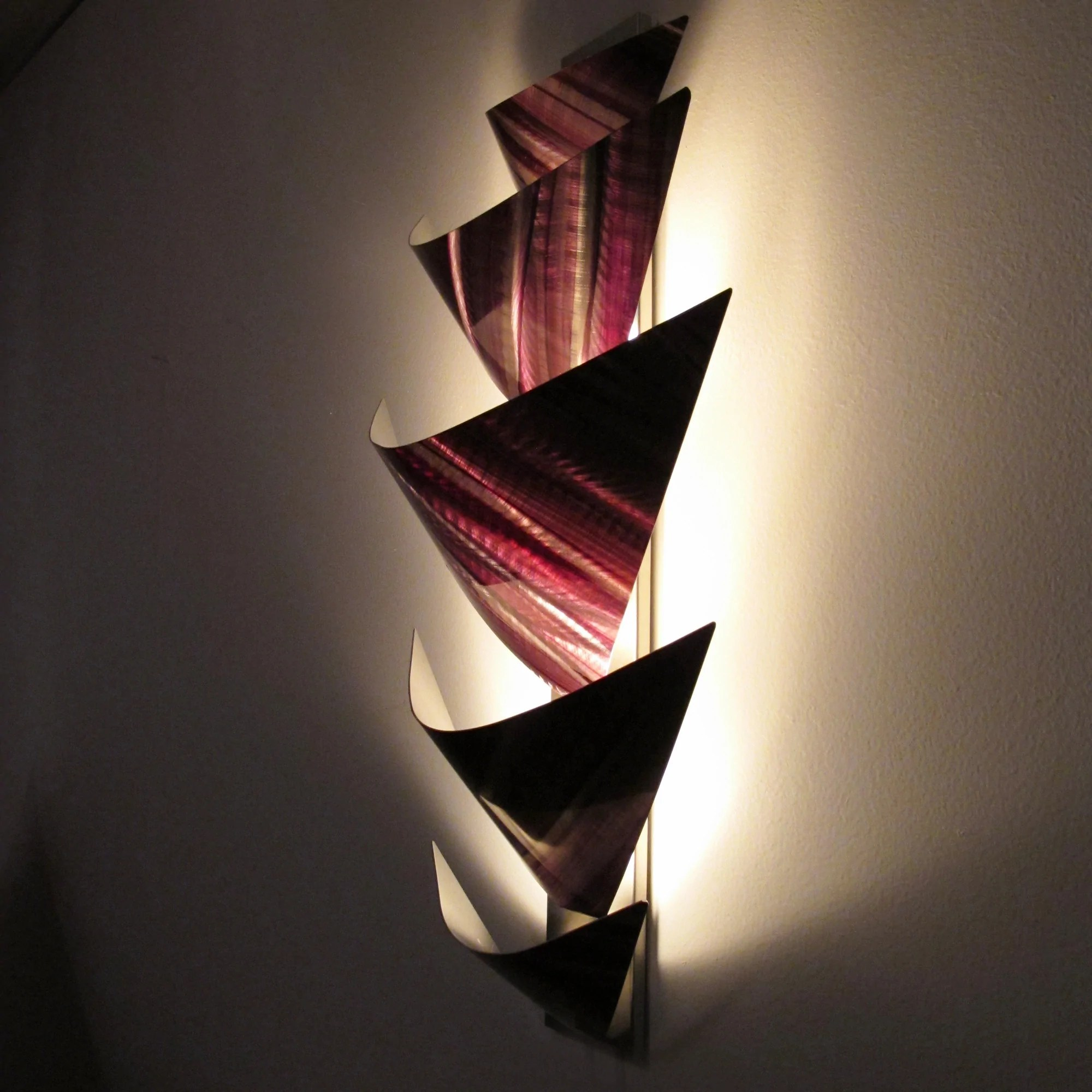"Wall Sconce Lighting Indoor ""aurora Torchiere Series"" 40""x24"" Modern Abstract Metal"