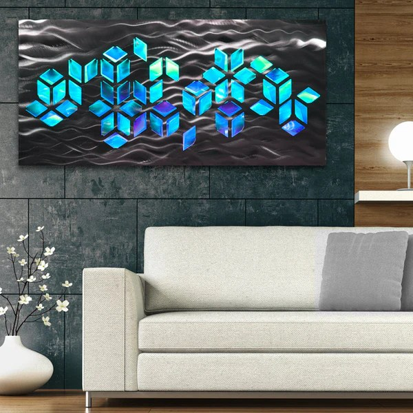 Impulse Large 46x22 Abstract Geometric Design Metal