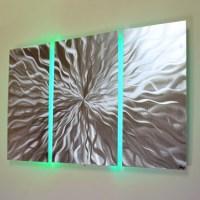 """""""Cosmic Energy 3 Panel"""" - 40""""x24"""" Abstract Metal Wall Art ..."""