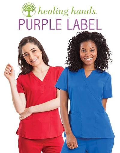 Scrubs With Tree Logo : scrubs, Purple, Label, Healing, Hands, Scrubs, Labels, Ideas