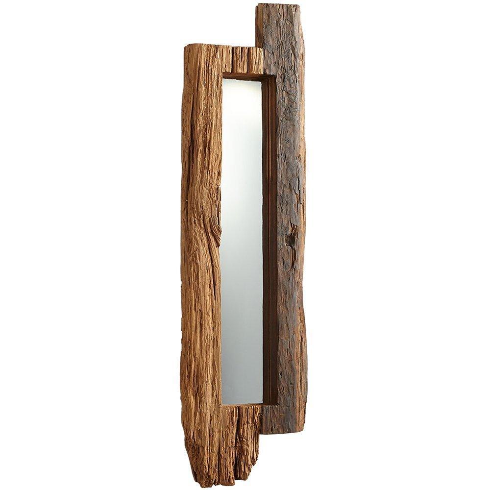 tall rustic wood mirror