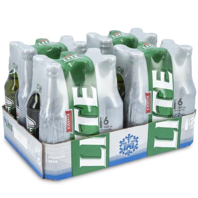 Castle Lite Bottle 340ml - Case – Netliquor