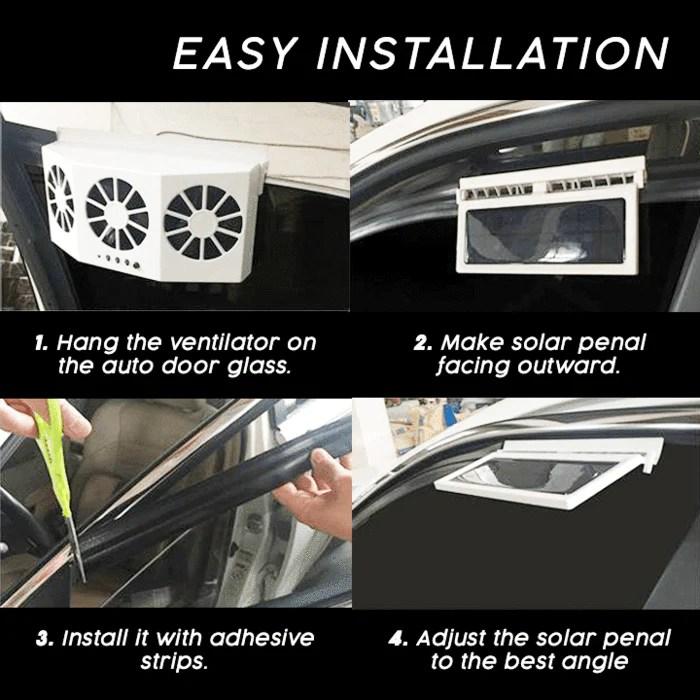 cool solar car exhaust heat exhaust fan