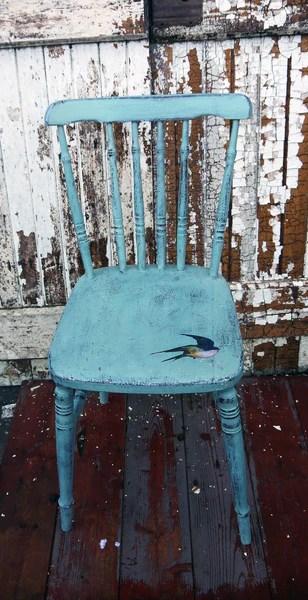 Vintage hand painted chair in Miss Mustard Seed Milk Paint