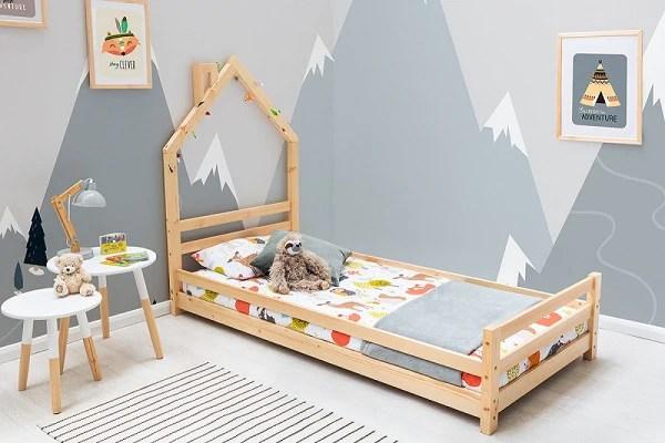juni pine kids style single bed frame
