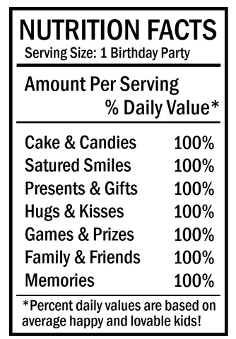 Birthday Chip Bag Nutrition Facts Png : birthday, nutrition, facts, Nancy, Muñoz, Birthday, Nutrition, Facts, Label, %article_desc%, Guys!, Today, Share, Parties.