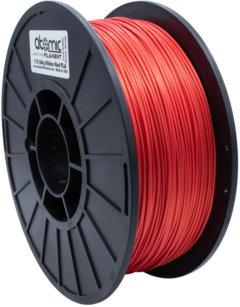 medium resolution of 1 75 mm silky ribbon red pla atomic filament 1kg spool