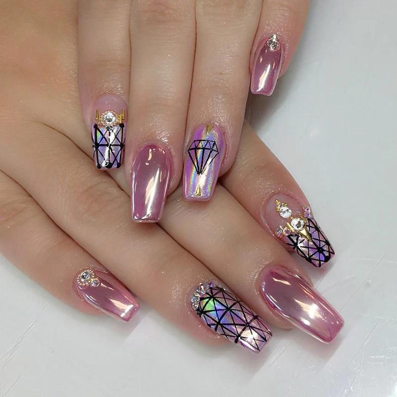 mirror nail chrome magic powder
