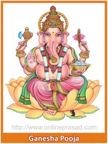 Ganesha Puja , Pooja - Online Puja, OnlinePrasad.com