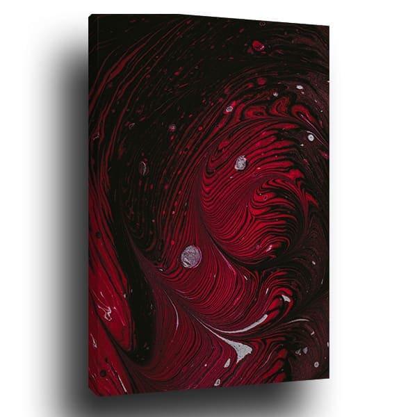 tableau contemporain rouge noir gris royaume du tableau